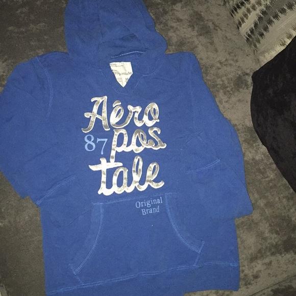 Aeropostale Sweaters - Blue aeropostal hoody sweater size M
